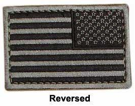 Matrix Hook and Loop U.S. IFF Flag Patch - Reversed  (Black)