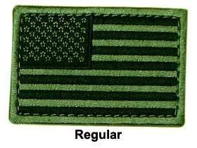 Matrix Hook and Loop U.S. IFF Flag Patch - Regular  (OD)