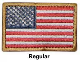 Matrix Hook and Loop U.S. IFF Flag Patch - Regular. (Full Color)