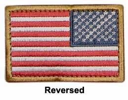 Matrix Hook and Loop U.S. IFF Flag Patch - Reversed. (Full Color)
