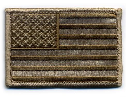 Matrix Hook and Loop U.S. IFF Flag Patch - Regular. (Tan)