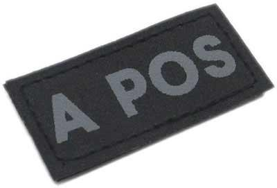 Matrix Military Spec. 50mm Blood Type Patch with Hook Backing - A POS