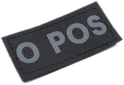 Matrix Military Spec. 50mm Blood Type Patch w/ Hook Backing - O POS