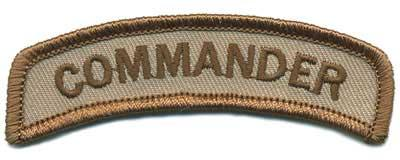 Matrix Commander Tab Hook Backed Morale Patch (Tan)