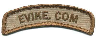 Official Licensed Evike.com Tab Hook Backed Morale Patch (Tan)