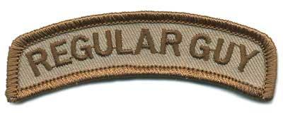 Matrix Regular Guy Tab Hook and Loop Backed Morale Patch (Tan)