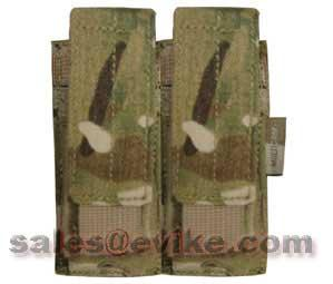 Tactical MOLLE Double Pistol Magazine Pouch by Phantom Gear - Multicam