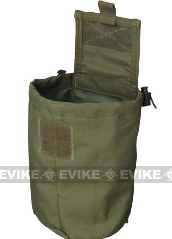 Roll-Up / Foldable Tactical MOLLE Utility Dump Pouch by Phantom - Black