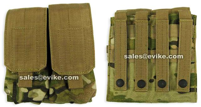 Phantom Gear Modular MOLLE Ready Tactical Double M4 M16 Magazine Pouch - Multicam
