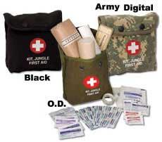 Jungle First Aid Kit with Medic Pouch - Black Pouch