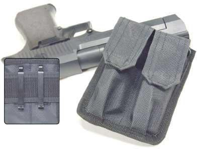 Leapers Dual Quick Draw Pistol Mag Pouch - Black