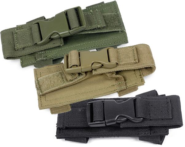 Horizontal MOLLE / Belt Mounted Pistol Magazine Pouch - Tan