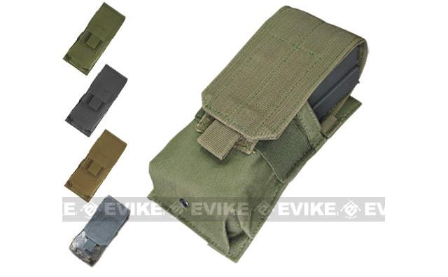 Tactical MOLLE Ready Single M4 M16 Magazine Pouch by Phantom Gear - OD Green
