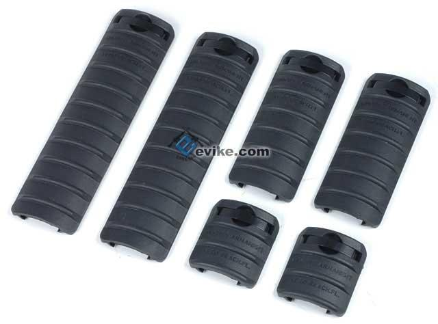 Rail Cover Set (6 pcs) for Airsoft AEG 20mm picatinny rail / RIS / RAS (Color: Black)