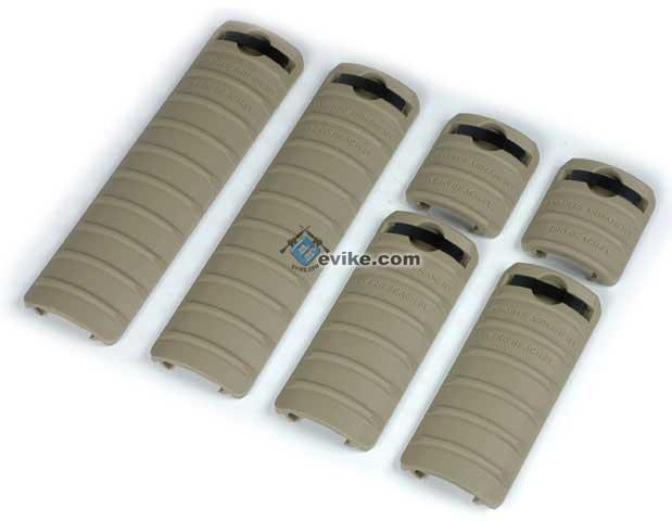 Rail Cover Set (6 pcs) for Airsoft AEG 20mm picatinny rail / RIS / RAS (Color: Dark Earth)