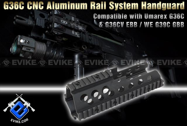 CNC Aluminum Rail interface System G36C / G39 / MK36 Series Airsoft AEG Rifle