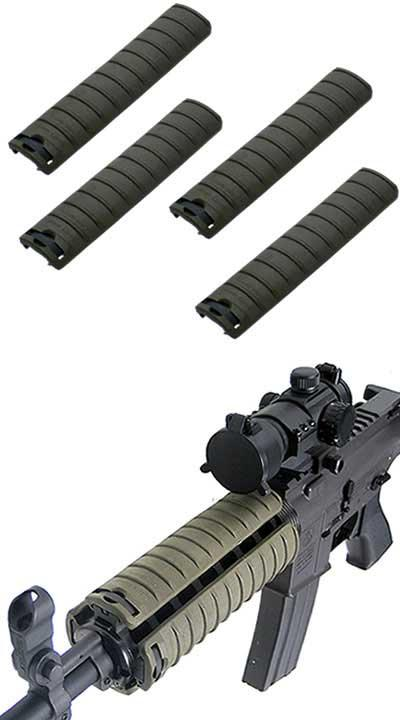 Special Force Tactical Hand Guard Rail Cover Pancel Set for Airsoft  - Set of 4 (Color: OD Green)