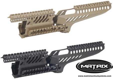 Matrix Tactical X47 Rail System for AK Series Airsoft AEG (Black)