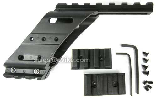 Rail Mount System for HFC / KWA / KSC / KJW / WE / ASG Series Pistols with a Railed Frame Gas Gun.