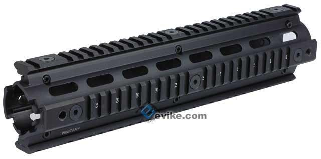 NcSTAR Tactical 12 AR-15 Quadrail Handguard RIS Rail System for M4 / M16 Series Airsoft AEG