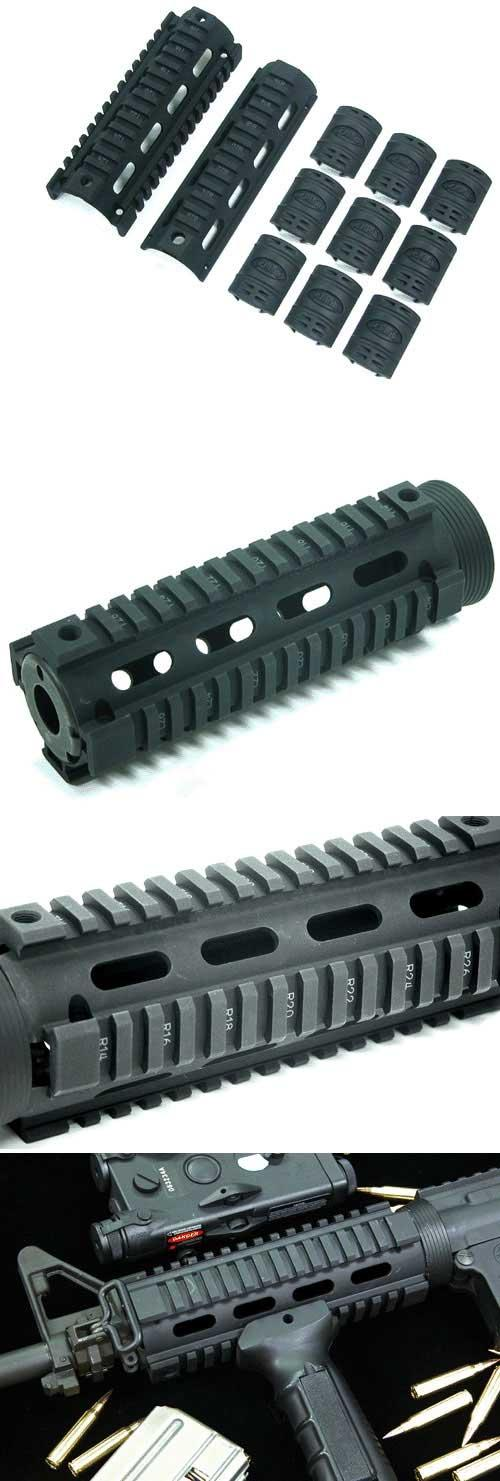 UTG Real Steel M4 M16 Carbine Length Quad Rail RIS System (Made in USA)