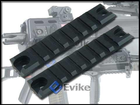 G36 / G36C Handguard Picatinny Weaver CNC Rails Set (Black / 2 pcs / Short)