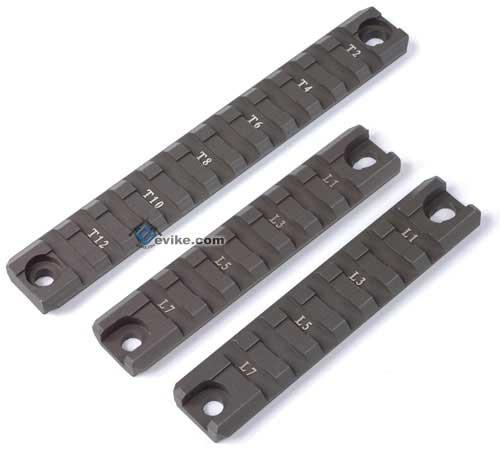G36 / G36C Handguard Picatinny Weaver CNC Rails Set (OD Green / 2 short 1 Long)