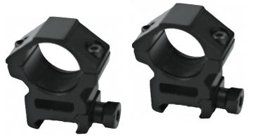 AIM 25mm 1 Tactical Scope Ring Set w/ QD Knobs (Weaver Base / Low Profile / Set of 2)