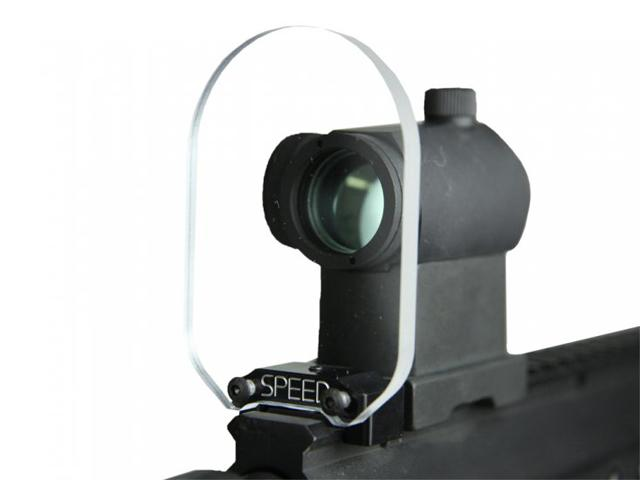 SPEED Airsoft Round Optic BB Shield - Large