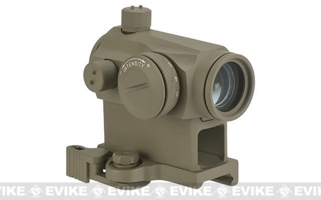 Avengers T1 Micro Reflex Red & Green Dot Sight with QD Riser (Color: Tan)