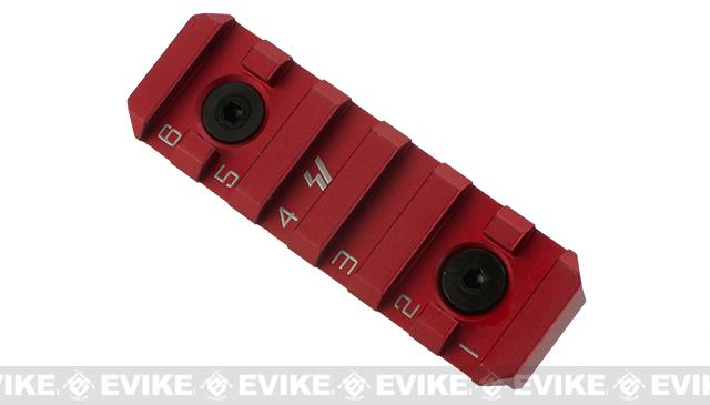 Strike Industries Link 6 Slot Standard Rail Section for Keymod and M-Lok Rail Systems - Red