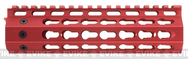 Strike Industries Gen 2. 7 Mega Fins Free Float Drop-In Keymod Handguard for M4 / M16 / AR15 Series Rifles - Red