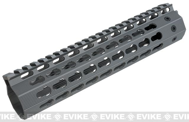Strike Industries Gen 2. 9 Mega Fins Free Float Drop-In Keymod Handguard for M4 / M16 / AR15 Series Rifles - Grey