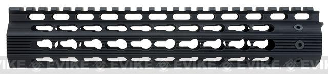 Strike Industries Gen 2. 10 Mega Fins Free Float Drop-In Keymod Handguard for M4 / M16 / AR15 Series Rifles - Black