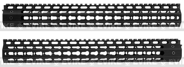 Strike Industries Gen 2. 15 Mega Fins Free Float Drop-In Keymod Handguard for M4 / M16 / AR15 Series Rifles - Black