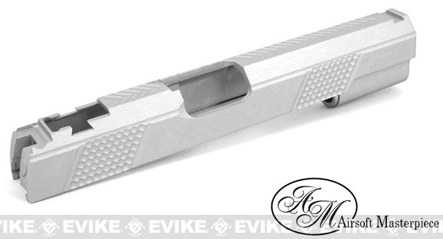 Airsoft Masterpiece Shay Akai Spike ver. Standard Slide for Tokyo Marui Hi-CAPA - Silver