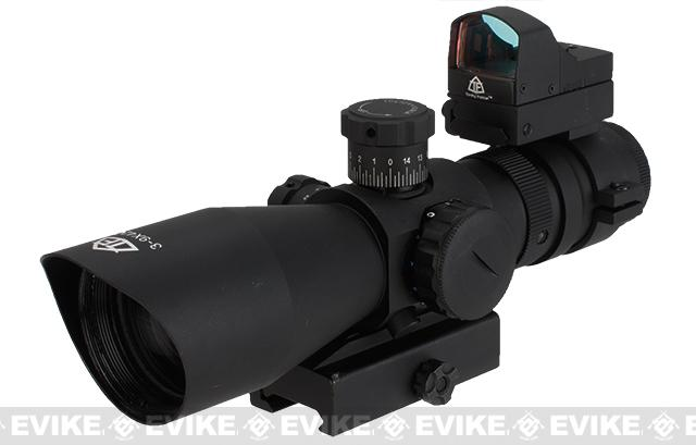 Trinity Force Recon-1 3-9x42 Illuminated Tactical QD Scope (Red/Green/Blue) w/ Micro Dot - P4 Sniper