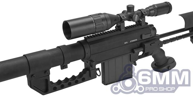 CheyTac Licensed M200 .408 Type Bolt Action Sniper Rifle by 6mmProShop (Black)