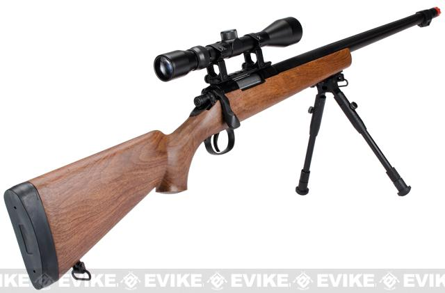 Matrix VSR10 MB07 Bolt Action Sniper Rifle w/ Bipod, Fluted Barrel & Flash hider (Imitation Wood)