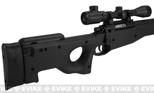 AGM Type 96 Airsoft Bolt Action Sniper Rifle - Black (Package: Add 3-9x40 Scope)