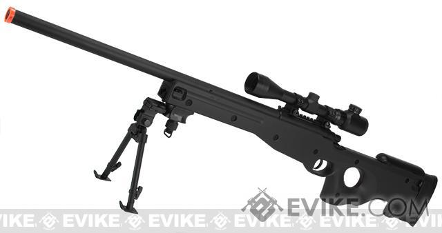 AGM Type 96 Airsoft Bolt Action Sniper Rifle - Black (Package: Rifle)