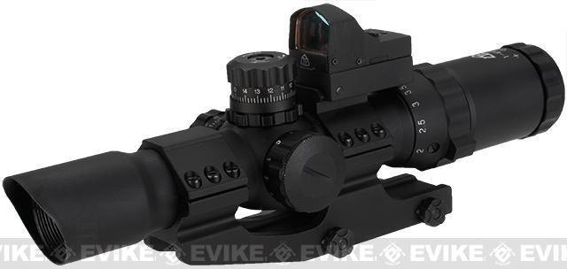 Trinity Force Assault 1-4x28 Illuminated Tactical QD Scope (Red/Green/Blue) w/ Micro Dot - Small Cross