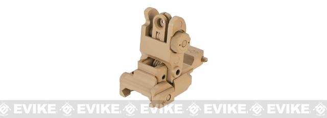 Avengers Metal Flip-up Rear Sight for M4 / M16 Series Airsoft Rifles - Dark Earth