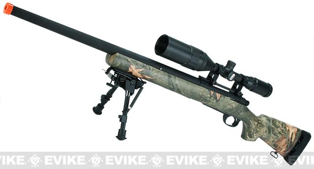 Snow Wolf US Army M24 Military Airsoft Bolt Action Scout Sniper Rifle  (Color: Hunter Camo)
