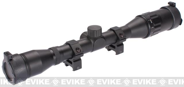 Matrix Military Style 4x32 Range Estimating Rifle Scope (AO & Mil-Dot Reticle)