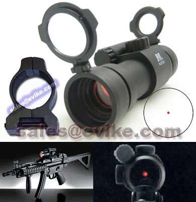 NC Star 1x30 Tactical Illuminated Electro Red Dot Scope w/ Weaver Mount