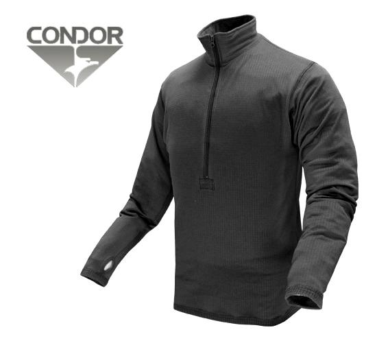 Condor Cold Weather BASE II Zip Pullover - Black (Size: Small)