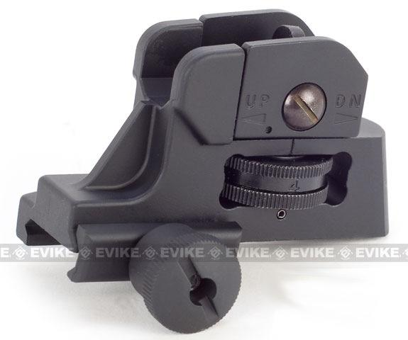 CQB-R Type QD Adjustable Rear Sight For M4 M16 Series Airsoft AEG Rifles