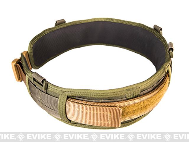 HSGI Slotted Slim-Grip Padded Duty Belt - OD Green (Size: Large)