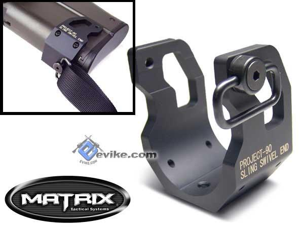 Matrix Rear Sling Adapter Plate For P90 Type Airsoft AEG Rifle - Black